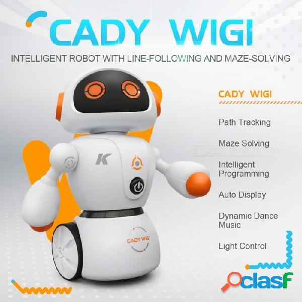 Robot jjrc r6 cady wigi rc que realiza un seguimiento de la programación inteligente con luz rtr - naranja