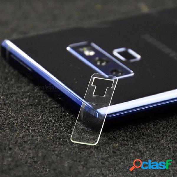 2 pcs protectores de pantalla de cámara de vidrio templado a prueba de rayones para samsung note 9 vidrio transparente / templado