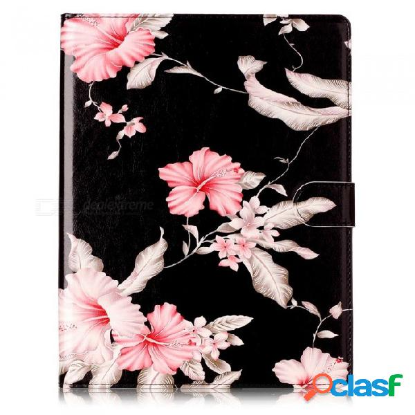 Esamact esr cubierta de goma pu cuero ultra delgado ajuste ligero caso elegante para ipad 3 - negro + rosa