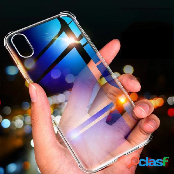 Funda protectora de silicona suave transparente de roca, funda de tpu a prueba de sacudidas para iphone x / iphone xs / iphone xs max claro / iphone xr