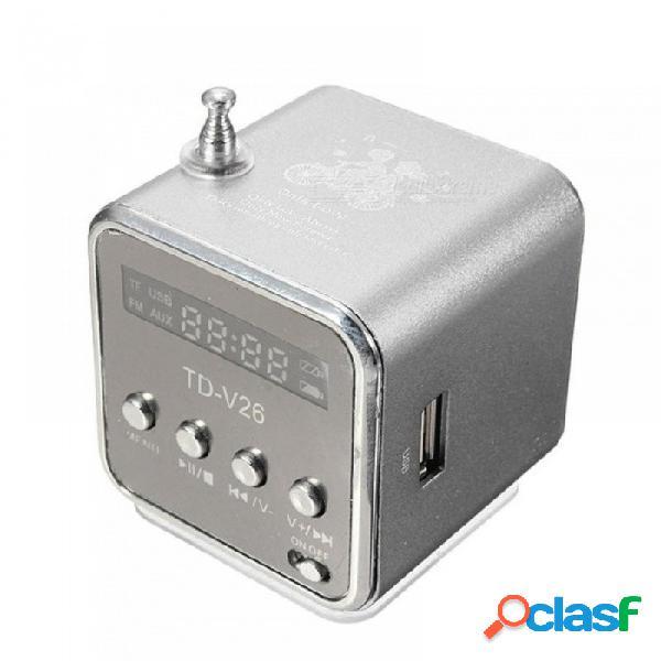 Mini altavoz portátil usb tf tarjeta fm radio altavoz estéreo reproductor de música para iphone para ipad pc 6 colores disponibles negro
