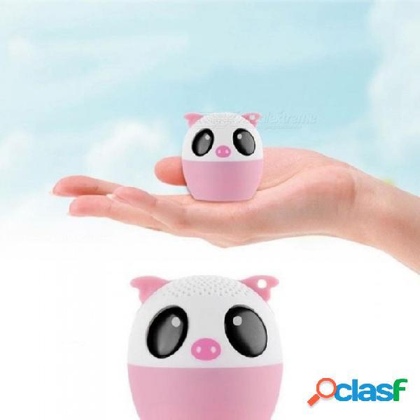 Altavoz bluetooth inalámbrico para animales con un potente y rico sonido de sala de 3w controlador de audio para iphone / ipad / ipod / samsung / htc / tablets rosa