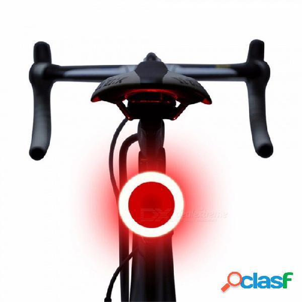 Bicicleta luz trasera led luz de advertencia de seguridad láser noche bicicleta de montaña usb posterior luz de redondez negro