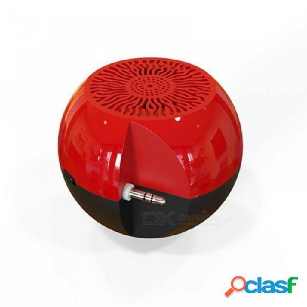 Conector de audio auxiliar de 3,5 mm enchufes mini altavoces portátiles con batería incorporada puerto micro usb para tabletas de teléfono celular ipad rojo