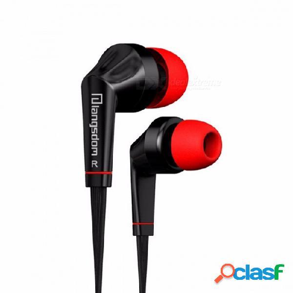 Langsdom jd88 auriculares de 3,5 mm para auriculares de alta fidelidad estéreo en la oreja los auriculares con micrófono auriculares para iphone samsung xiaomi