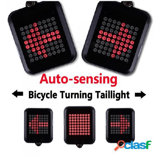 Luz trasera led de bicicleta esamact con láser usb recargable mtb luz de freno luz de advertencia de seguridad inteligente luz trasera