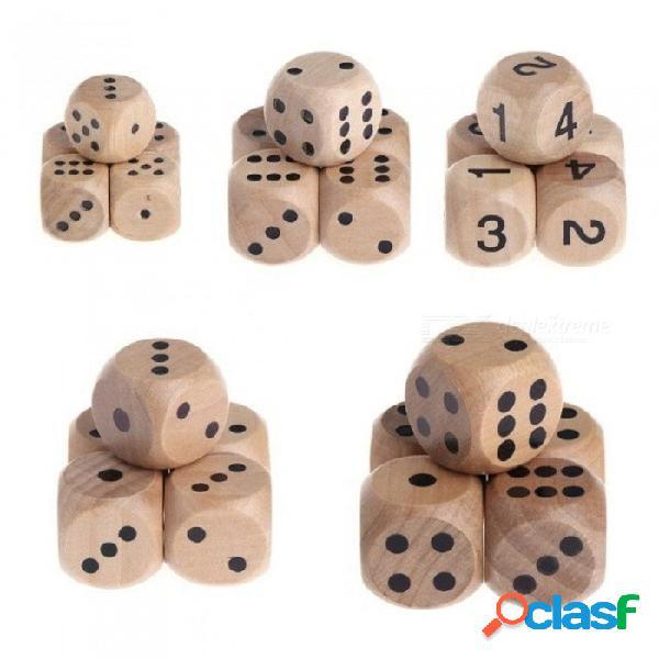 Número de parte del partido de mahjong de 6 lados o juego de juguetes para niños de esquina redonda de color con madera