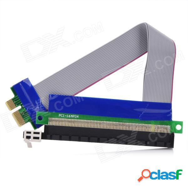 Pci expresar pci-e 1x macho a 16x cable elevador de la tarjeta vertical para tarjeta hembra para chasis de 1u / 2u (15 cm)