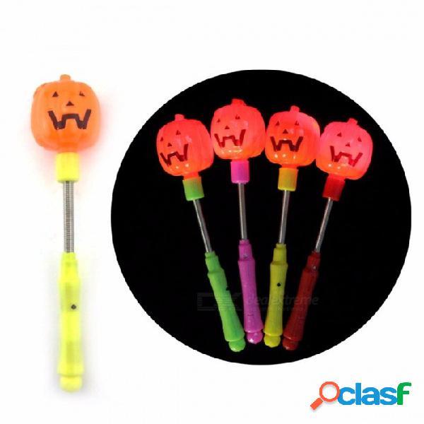5 unids calabaza de halloween primavera luz de destello vítores que animan diversión apoyos palos juguetes para niños adultos al azar de color naranja