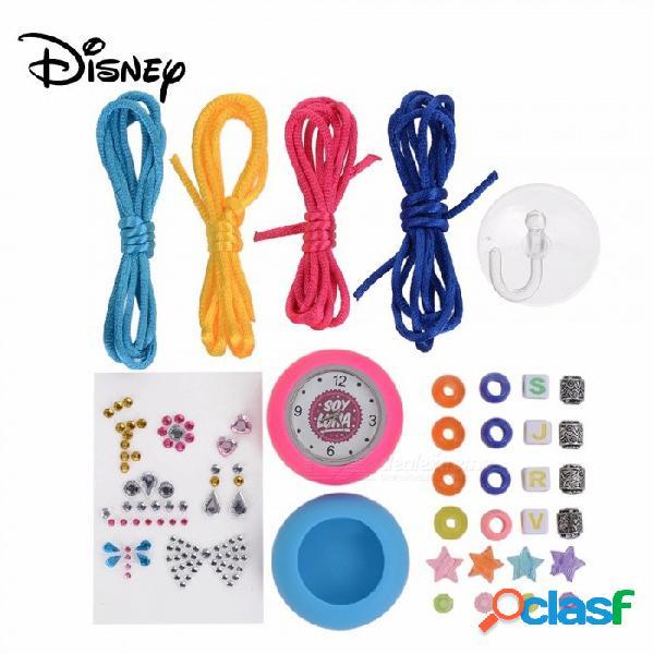 Disney soy luna reloj de pulsera lindo súper genial de dibujos animados, kit de juguete diy para niños niños rosa
