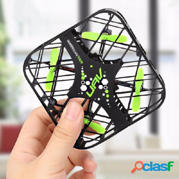 Dwi 650 mini portátil plegable de bolsillo 2.4g 4ch 6 ejes ufo rc drone quadcopter juguete w / gyro para niños negro + verde