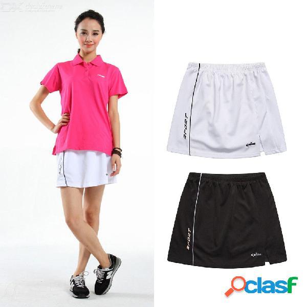 Faldas de tenis de las mujeres deportes cintura alta vestido corto bádminton voleibol corriendo animando falda de playa