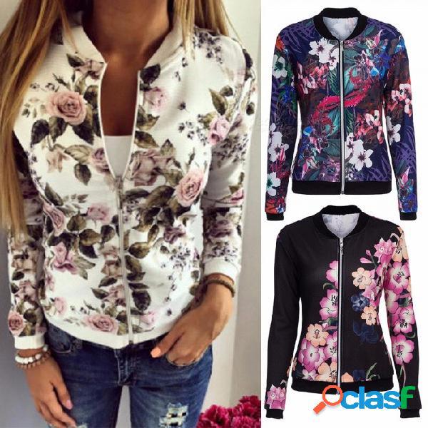 Nueva mujer de estilo europeo y americano otoño invierno abrigos chaqueta de punto corta de béisbol uniforme chaqueta de abrigo para las mujeres negro / s