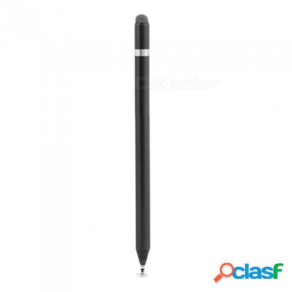 Bolígrafo de pantalla táctil, stylus universal de aleación de aluminio, bolígrafo capacitivo de moda para teléfono móvil para ipad pro - negro