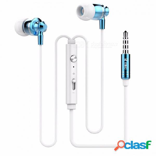 Langsdom m300 en auriculares auriculares de 3,5 mm con control por cable auriculares de metal de alta fidelidad auriculares estéreo duales con micrófono para smartphone de oro