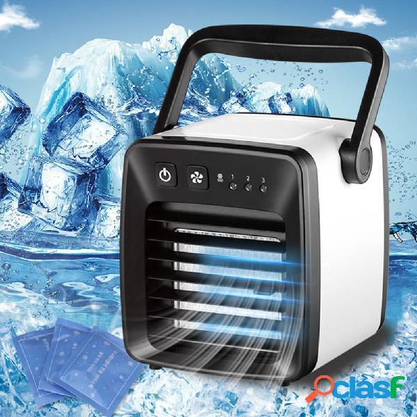 Ventilador de aire acondicionado portátil usb de 5w con 3 configuraciones de velocidad, mini ventilador usb de bajo ruido para el escritorio