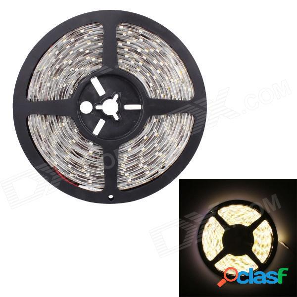 90w 7200lm 5630-300-smd led blanco cálido impermeable flexible decoración de coche luz de tira (5m / dc 12v)