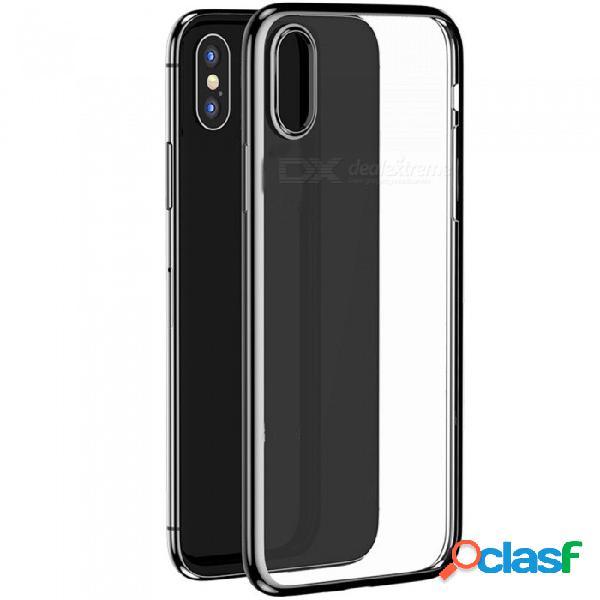Benks que electroplaba el caso de tpu, caso antichoque de la contraportada del teléfono móvil para el negro del iphone x / xs