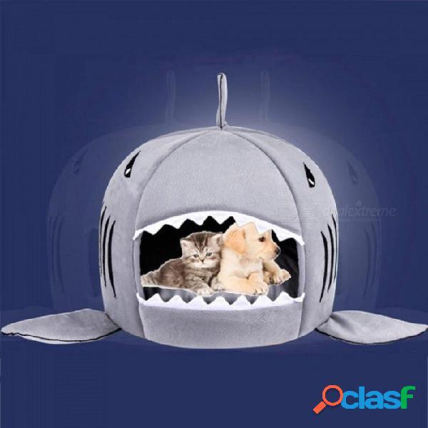 Cama para perros tiburón cama para mascotas cama para gatos camas para gatos con tiburones casa para perros grandes medianos camas para mascotas perrito perrera tienda de mascotas chihuahua c