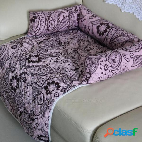 Multifunción perro grande sofá cama perro estera perro gato perritos lavable casa nido suministros para mascotas s m xl sofá cojín antideslizante flor s / negro