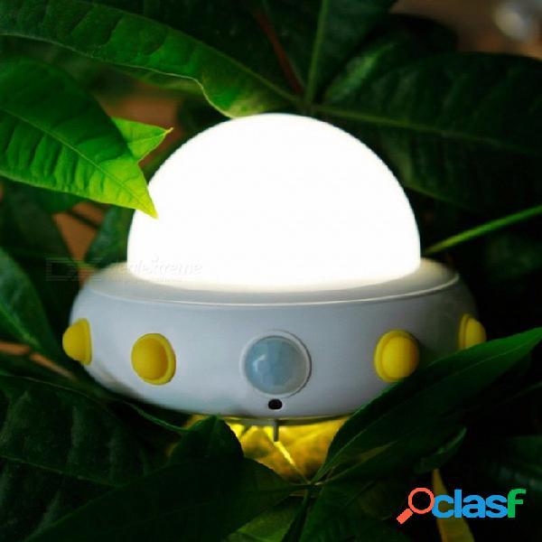 Novedad ufo luz de noche mesita de noche lámpara de pared lámparas recargables carga usb sensor de movimiento led activado niños luz