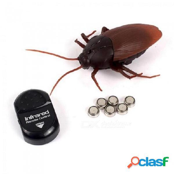 Simulación divertida infrarrojo rc control remoto miedo espeluznante insecto cucaracha juguetes regalo de halloween para niños niño adulto rc cucaracha