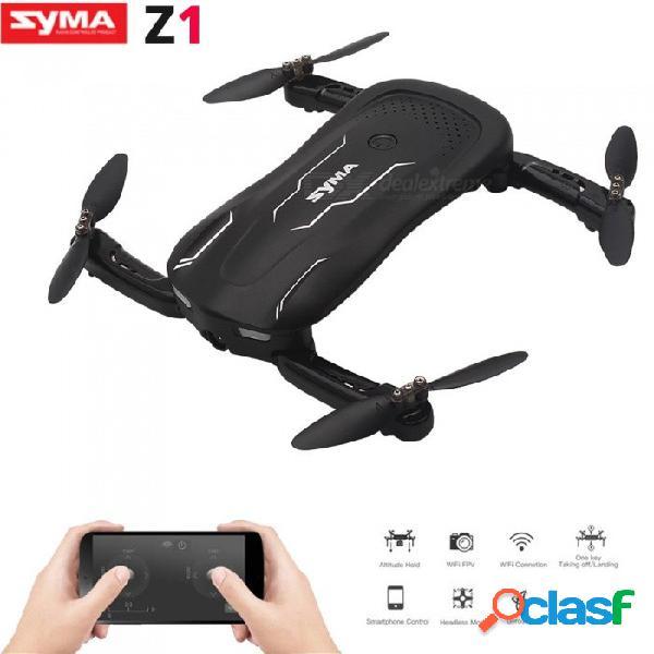 Syma z1 rc avión no tripulado con cámara hd fpv avión real con control remoto avión de transmisión en tiempo real negro