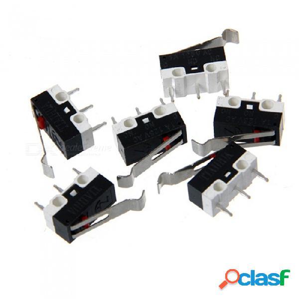 Zhaoyao 10 piezas 1a 125v ac interruptor de límite de la palanca piezas mk7 mk8 piezas de la impresora 3d trípode micro interruptores