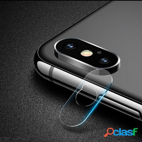Cámara de la cámara del teléfono móvil de usams protector de pantalla completa de cristal templado de película len 2 pcs para iphone xr / xs / xs max