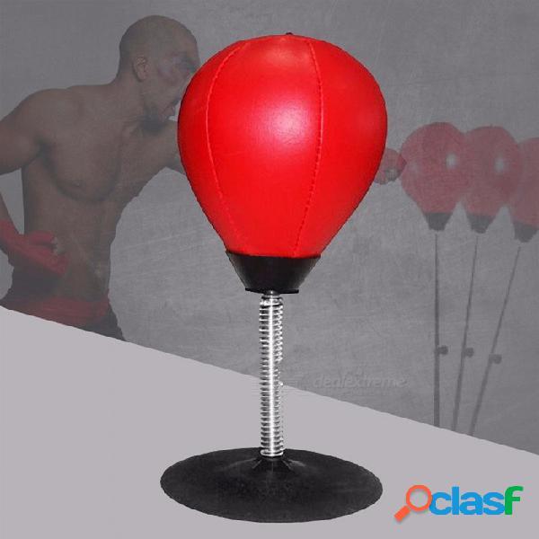 Fácil escritorio fijo boxeo saco de boxeo velocidad bolsas de bolas práctica velocidad bolas estrés releasetraining fitness deportes rojo