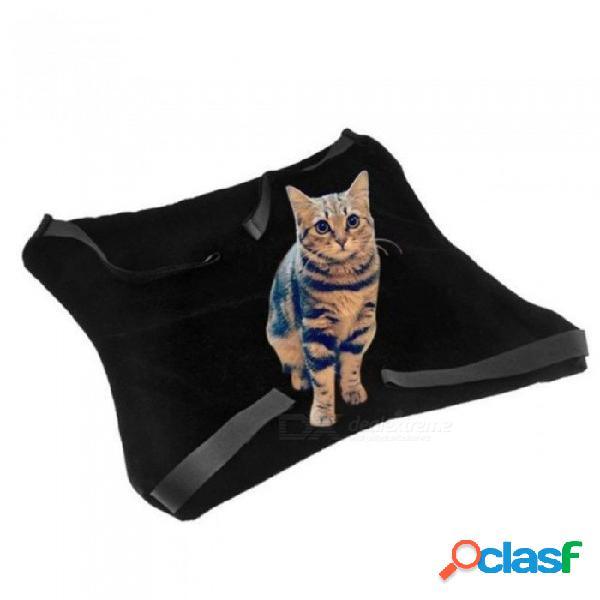 Gato colgando de la cama estera del gato cálido y suave gatito grande cama colgante mascota gato hamaca cama para perro pequeño cachorro negro y gris opcional de un tamaño / negro