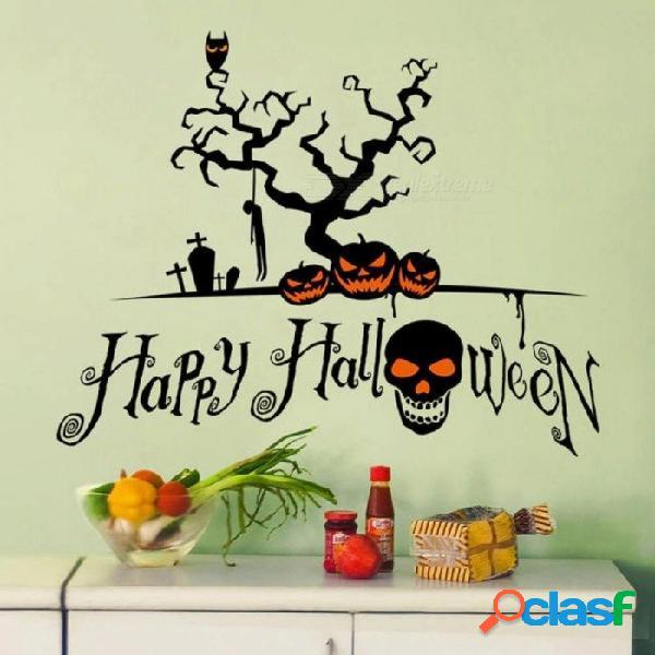 Halloween decoración del hogar pegatinas de pared de moda diy etiqueta de la pared de vinilo removible para la decoración del hogar arte de la pared a