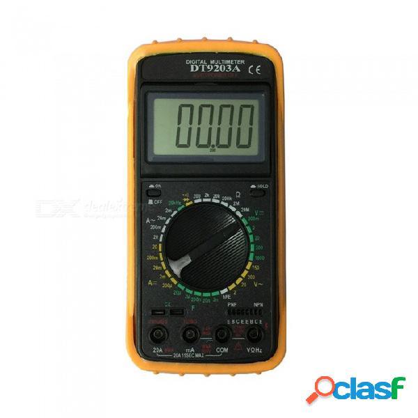 Ismartdigi dt9203a.1 multímetro digital portátil de mano con lcd para el hogar y el automóvil - negro