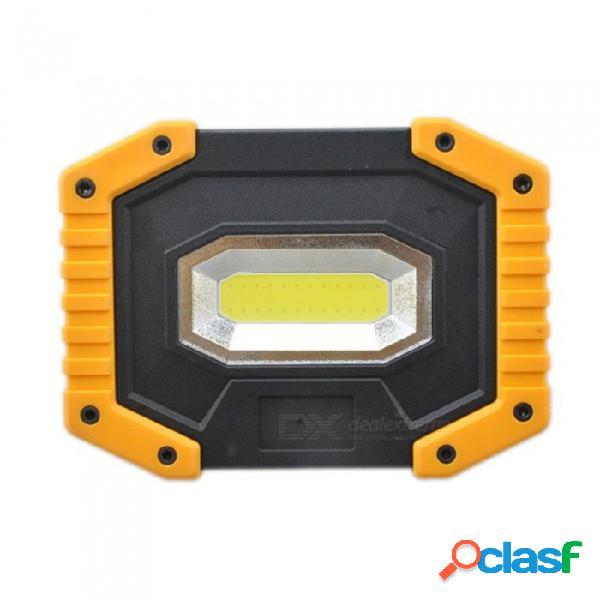 Led portable spotlight led work light rechargeable 18650 battery outdoor light for hunting camping led lantern flashlight
