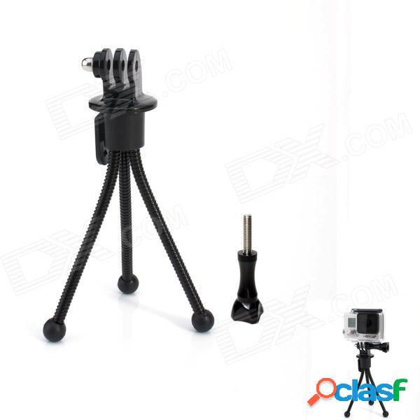 Mini soporte de soporte de trípode de metal de 4 pulgadas para cámara / gopro hero 4/3 + / 3/2/1 / sj4000 - negro