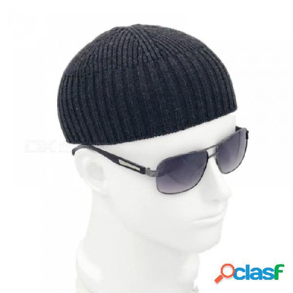 Gorro de punto unisex gorro de calavera gorra de marinero brazalete sin borde negro marino gris retro vintage moda