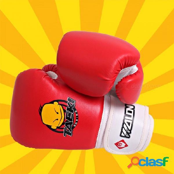 Guantes de boxeo para niños guantes de sanda niño entrenamiento muay thai fighting sanda fitness rojo