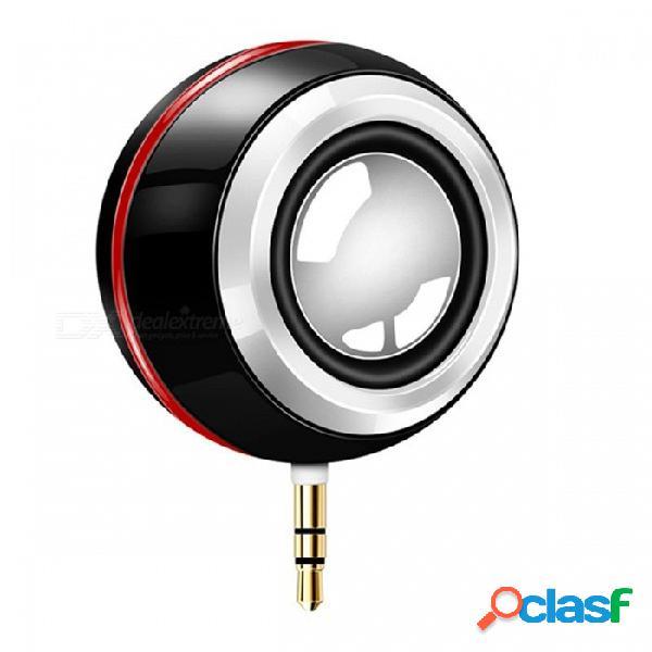 Mini altavoz inalámbrico portátil 3.5mm aux audio jack recargable altavoz claro claro con luz selfie para el teléfono pad ordenador portátil pc rosa