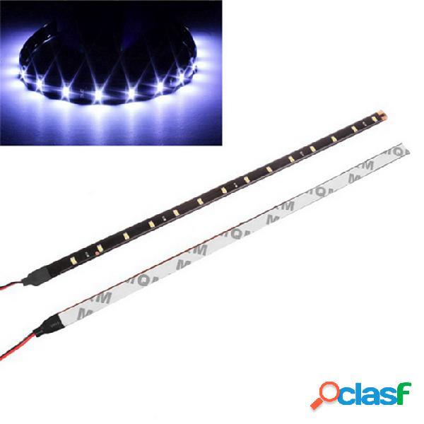 15-led 3w tiras de luz flexible luz azul impermeable 15-5050 smd led auto de alta potencia decoración de auto flexible tiras de led 30cm 2pcs
