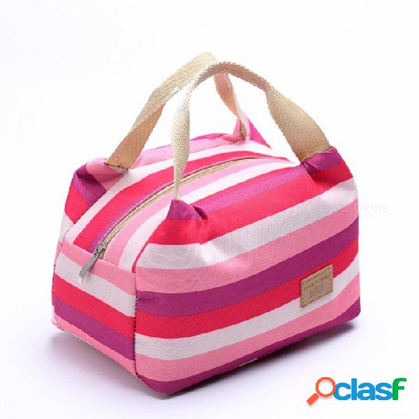 Bolsa de comida para picnic de viaje bolsa de almuerzo de aislamiento térmico fiambrera térmica portátil bolsas térmicas marrón