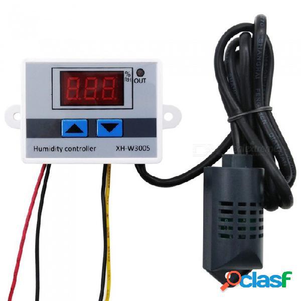 Controlador de humedad digital esamact, interruptor de control de humedad del higrómetro 0 ~ 99% hr higrostato con sensor de humedad