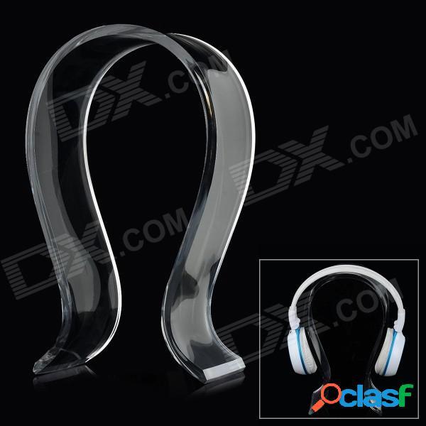 En forma de u del soporte del sostenedor de acrílico de auriculares / auriculares hanger - blanco traslúcido