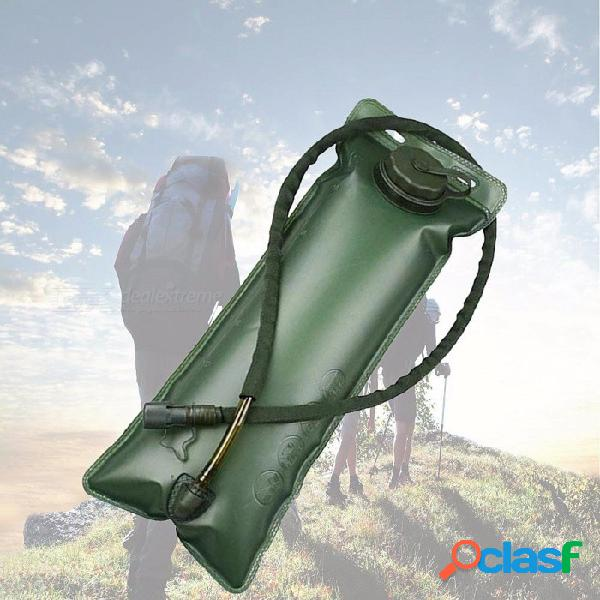 Grado alimenticio eva ciclismo de viaje al aire libre deportes bolsa de agua potable dentro de la bolsa de agua bolsa de agua plegable 3l verde