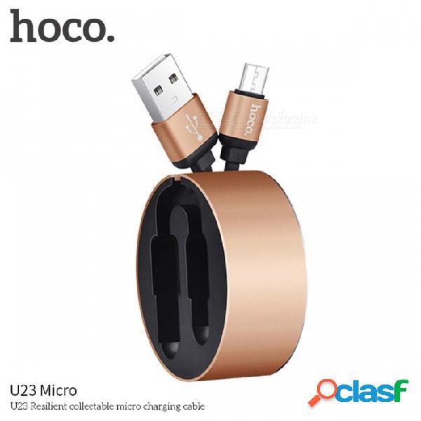 Hoco. u23 cable micro usb cable de carga cable micro usb retráctil doble para samsung xiaomi htc htc android