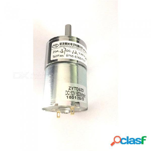 Motor micro de la caja de cambios de zhaoyao 37rg dc 12v 200rpm, caja de cambios eléctrica de la reducción de velocidad con el eje de salida céntrico