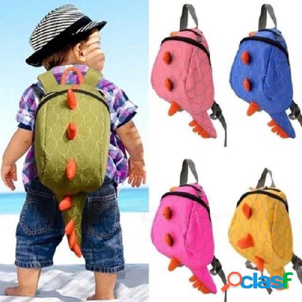 Nueva personalidad de la historieta kawaii monstruo mochila de lona dinosaurios más pequeños bocadillos moda juguete niños mochila para niños 5