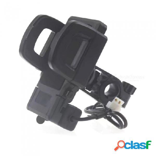 Soporte universal de carga de teléfono móvil para motocicleta soporte para iphone x, 8, 7 plus, samsung s8, s9, s7