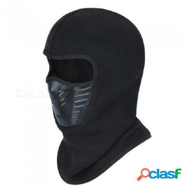 Unisex sombrero a prueba de viento skullies beanies para hombres mujeres máscara facial completa otoño invierno sombrero transpirable vellón pasamontañas