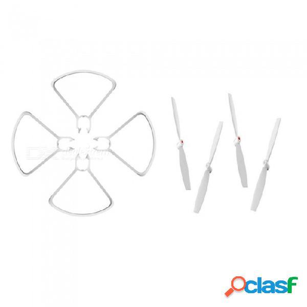 Xiaomi repuestos accesorios hélices cuchillas cubierta protectora cuchilla guardia para xiaomi mitu wifi fpv quadcopter drone blanco / 10c
