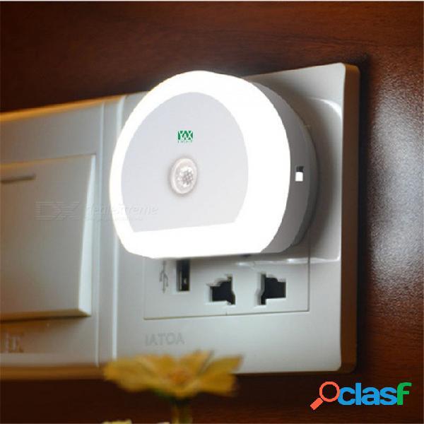 Ywxlight 3w 2 puerto 5v adaptador de cargador usb sensor automático led luz nocturna ue enchufe ac100-240v